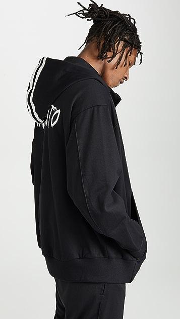 Y-3 M Signature Graphic Full Zip Hoodie