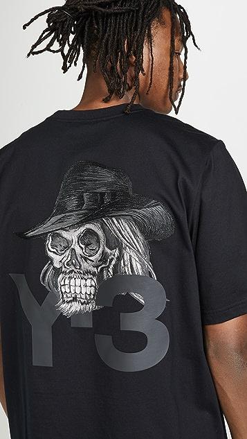 Y-3 M Yohji Skull Tee