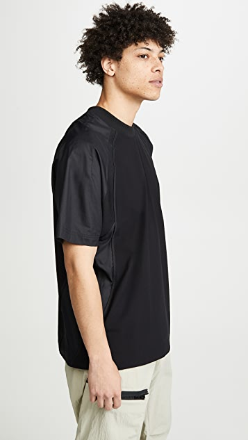 Y-3 Y-3 3 Stripes Mixed Material Tee