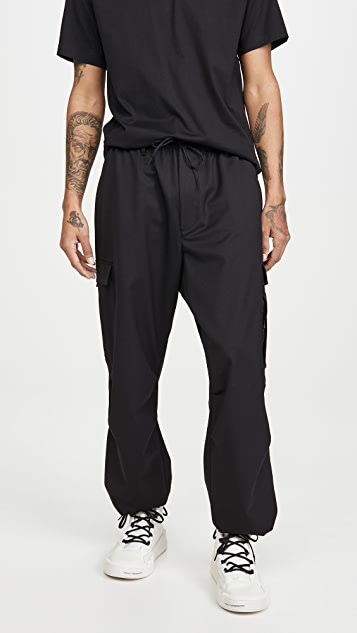 Y-3 Refined Wool Stretch Cargo Pants
