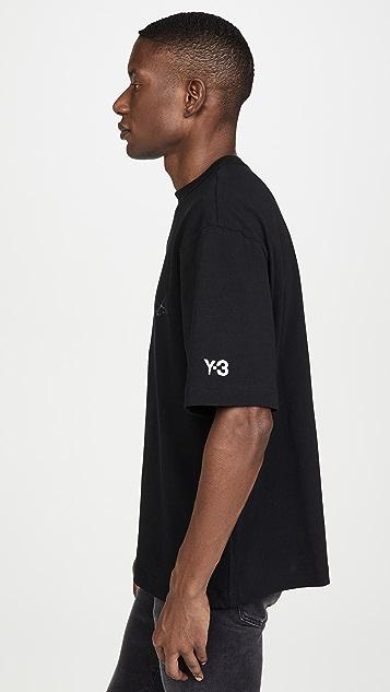 Y-3 Distressed Yohji Signature T-Shirt