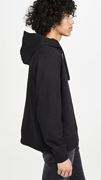 Y-3 Distressed Yohji Signature Pullover Hoodie