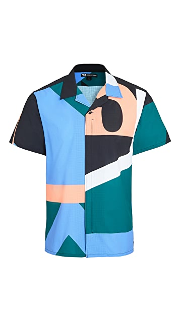 Y-3 Multi Color Yohji  Camp Shirt