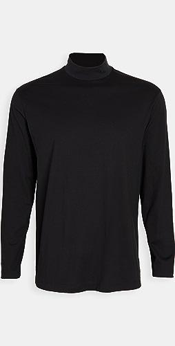 Y-3 - Y-3 Logo Mock Neck Long Sleeve Shirt