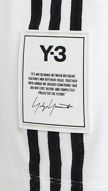 Y-3 3 Stripe Short Sleeve Tee