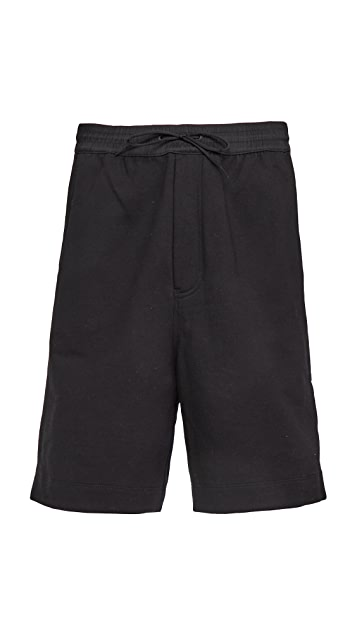 Y-3 3 Stripe Terry Shorts