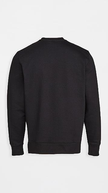 Y-3 Square Label Graphic Crew Sweatshirt