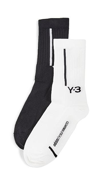 Y-3 2 Pack Crew Socks