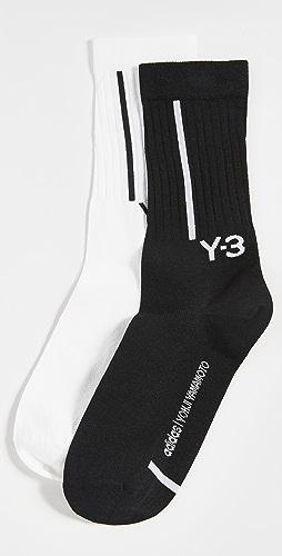 Y-3 - Y-3 Crew Socks 2 Pack