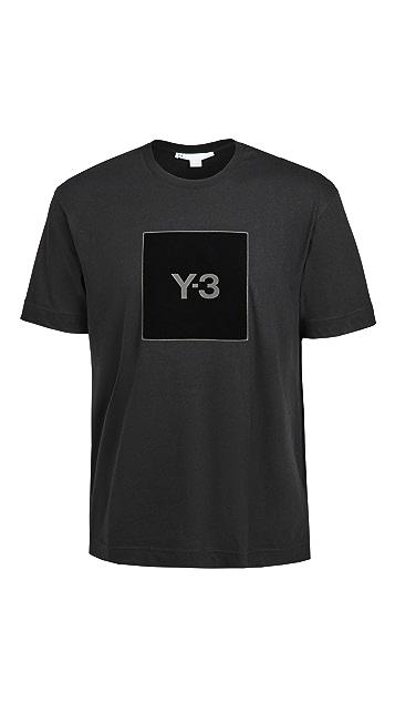 Y-3 U Square Logo Tee
