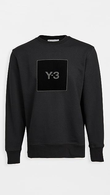 Y-3 U Square Logo Crew Sweatshirt