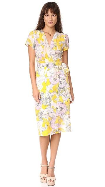 Yumi Kim Caught in the Midi Wrap Dress