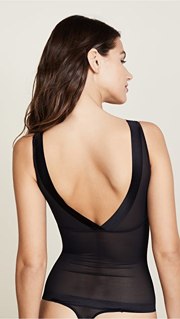 Yummie Elegant Edge Thong Back Bustless Bodysuit