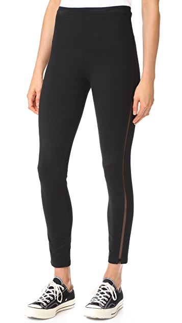 Yummie Leggings with Mesh Elastic Sides