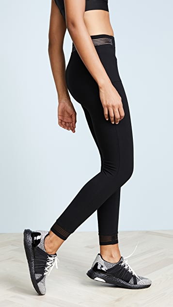 Yummie Ankle Leggings with Stripes