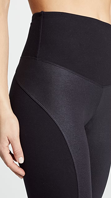 Yummie Coated Side Panel Ankle Leggings