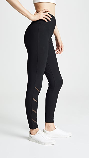 Yummie Signature Waistband Leggings with Mesh