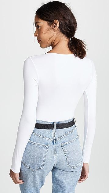 df0b9698bd78 Yummie Long Sleeve Thong Back Bodysuit | SHOPBOP