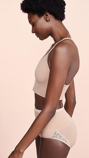 Yummie Ultralight Seamless Lace Back Bralette