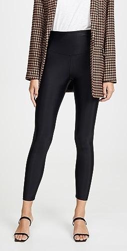 Yummie - 复古闪光色塑形贴腿裤