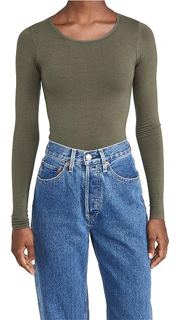 Yummie Long Sleeve Shaping Thong Bodysuit