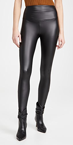 Yummie - 经典纯色人造皮贴腿裤