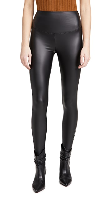 Yummie Signature Solid Faux Leather Leggings