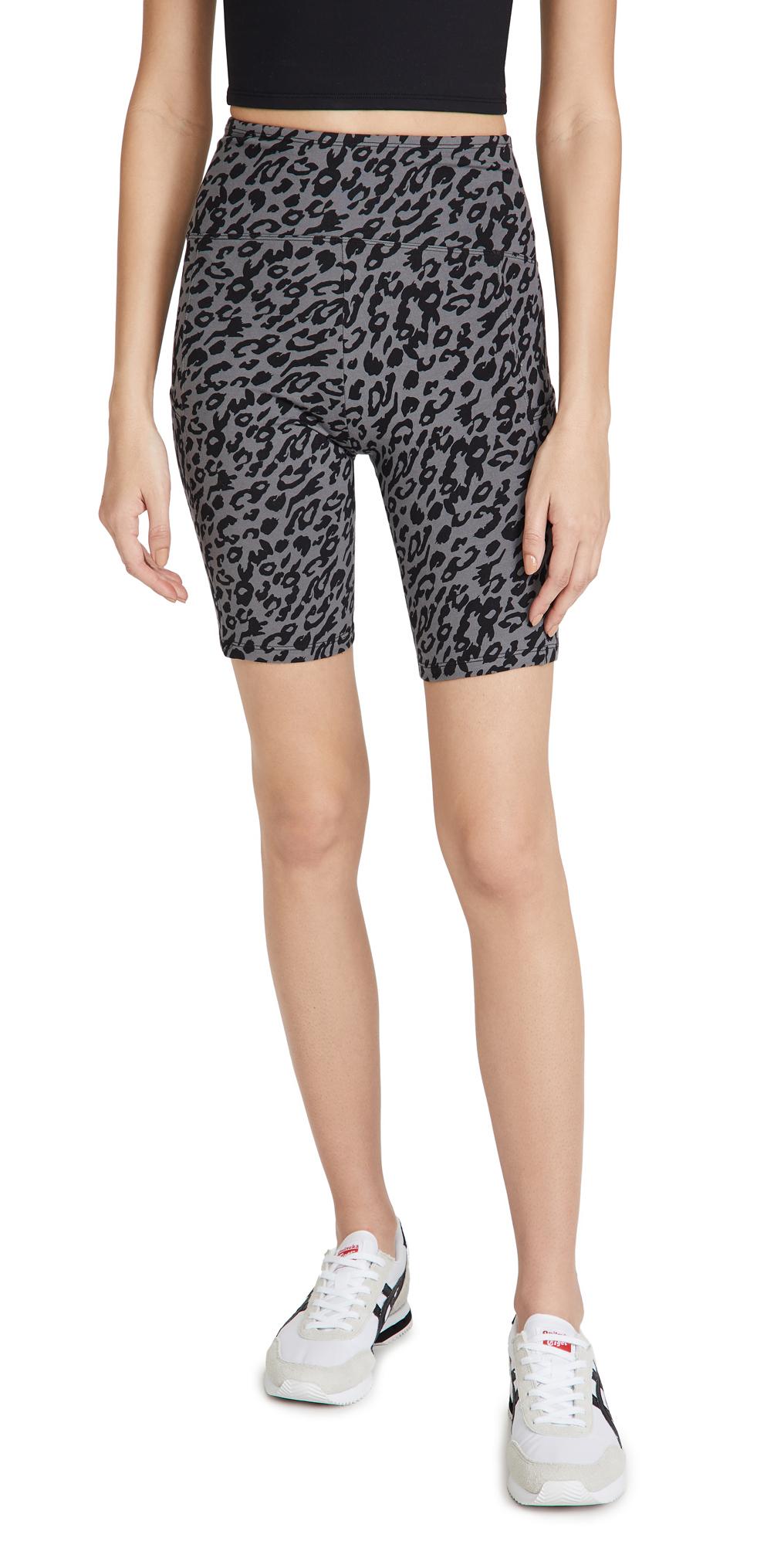 Yummie Mel Cotton Stretch Biker Shorts with Pocket