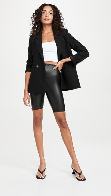 Yummie Faux Leather Biker Shorts