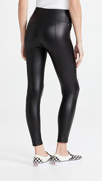 Yummie Faux Leather Leggings
