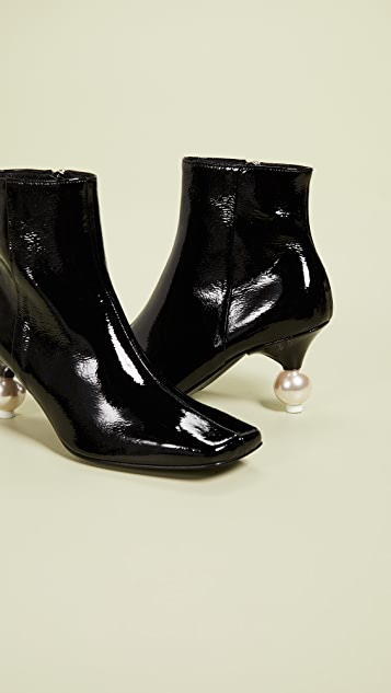 Yuul Yie Short Imitation Pearl Booties
