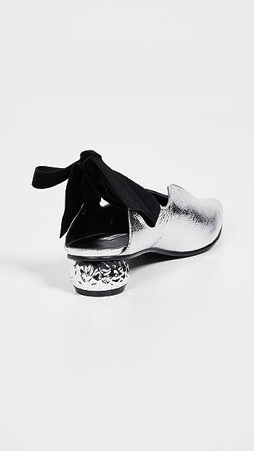 Yuul Yie Туфли-лодочки Reve с бархатным ремешком на пятке