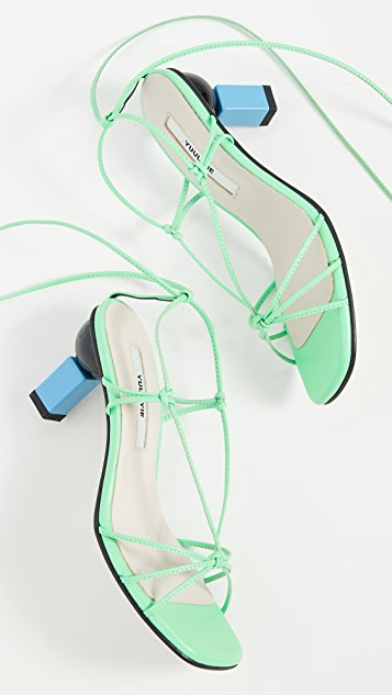 Yuul Yie Trophy Lace-Up Sandals