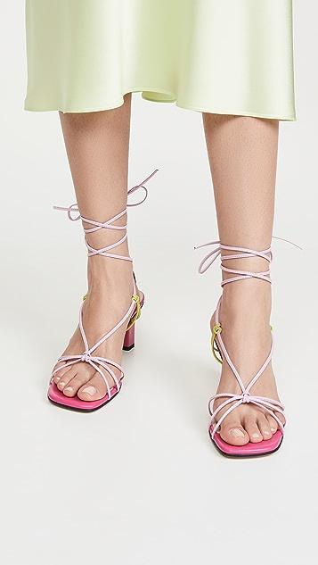 Yuul Yie Trophy Lace-Up Sandals