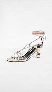 Yuul Yie 水晶系带凉鞋
