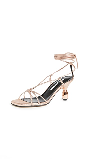 Yuul Yie Crystal Lace Up Sandals