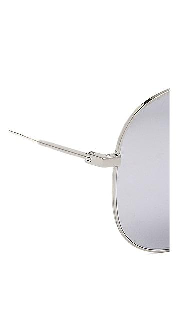 Saint Laurent Крупные солнцезащитные очки Classic 11
