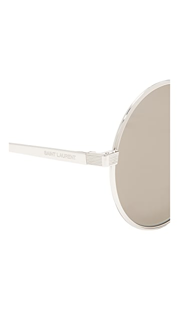 Saint Laurent SL 136 Zero Base Mineral Lense Round Sunglasses