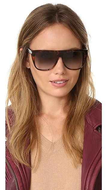Saint Laurent SL 1 Flat Top Sunglasses