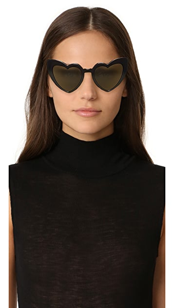 Saint Laurent SL 181 Lou Lou Hearts Sunglasses