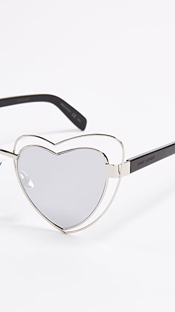 Saint Laurent Lou Lou Hearts Sunglasses