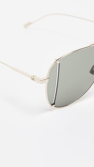 Saint Laurent SL 193 Aviator Sunglasses