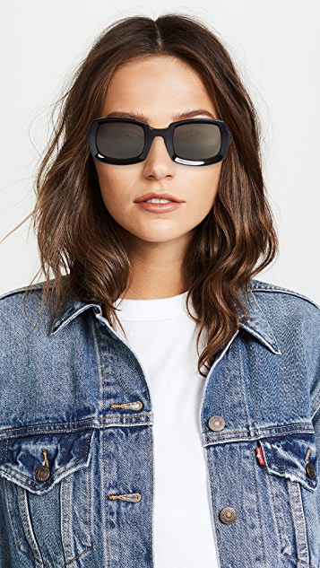Saint Laurent Солнцезащитные очки в скошенной оправе