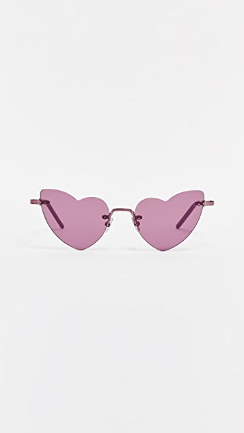 Saint Laurent SL 254 Rimless Lou Lou Sunglasses