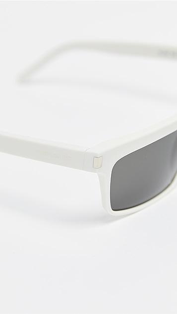 Saint Laurent Узкие прямоугольные солнцезащитные очки Sl 246