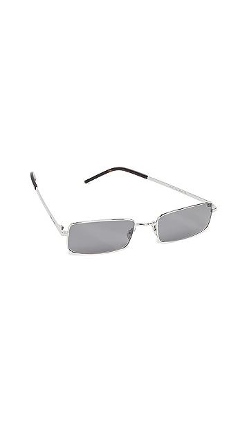 Saint Laurent Прямоугольные металлические солнцезащитные очки SL 252