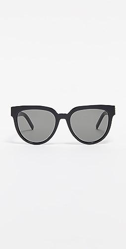 Saint Laurent - SL M28 醋酸纤维塑料猫眼太阳镜