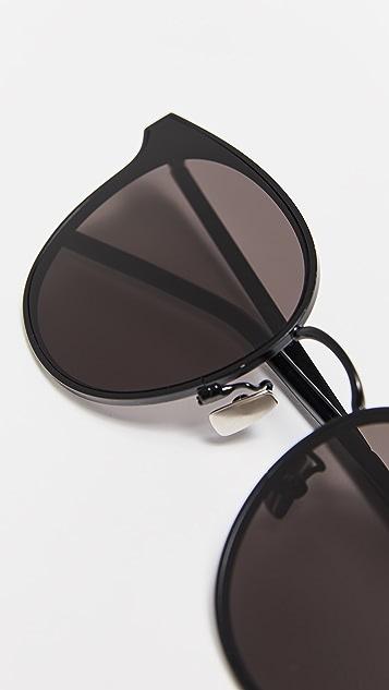 Saint Laurent SL 271 Round Metal Sunglasses
