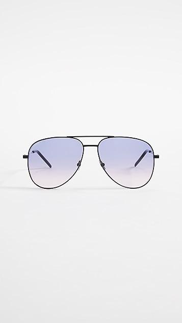 Saint Laurent Classic Aviator Sunglasses