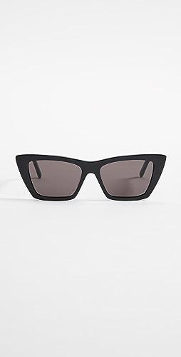 Saint Laurent - 窄款猫眼太阳镜